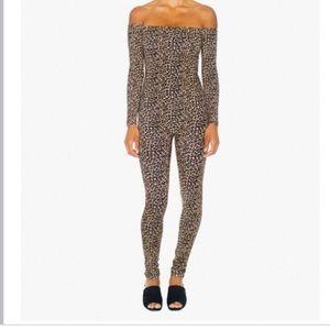 American Apparel leopard catsuit.